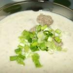 Грибной суп-пюре из шампиньонов с фрикадельками