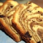 Мраморный кекс с шоколадной крошкой