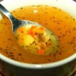 Суп с перловой крупой и шампиньонами