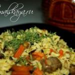 Мясо в горшочке с рисом