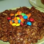 Пасхальный торт-гнездо