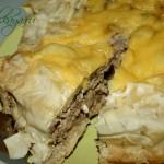 Мясной пирог из теста Фило