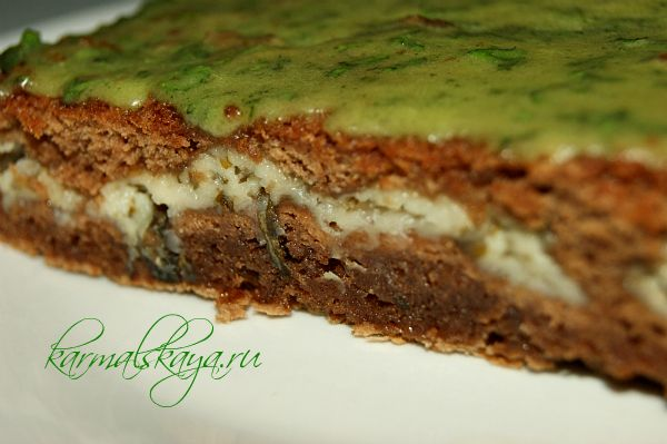 Шоколадно-мятные брауни, пошаговый рецепт с фото