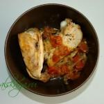 Ароматная курица с овощами